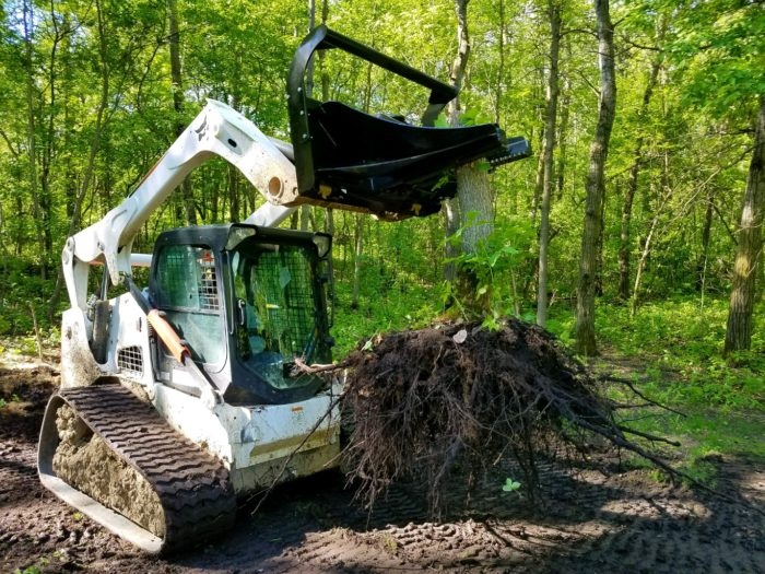 prime attachments tree puller pulling a tree