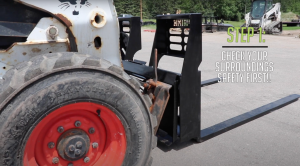 Step 1 - start of how to change skid steer attachments