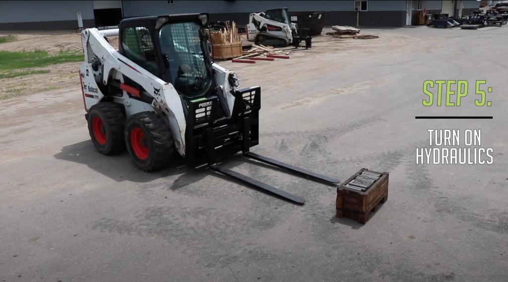 Step 5 - Turn on hydraulics